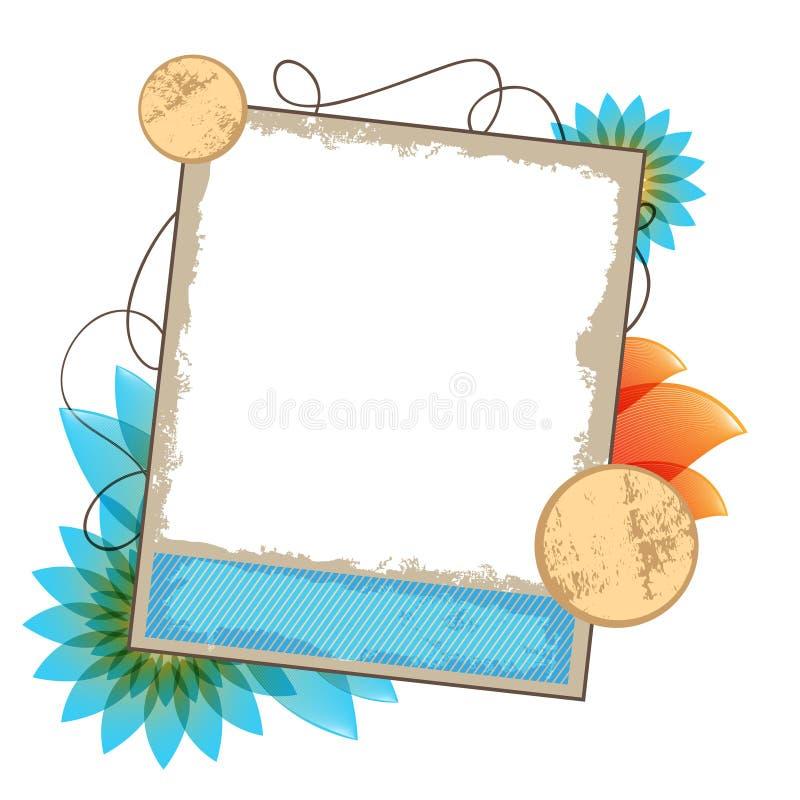 Ilustración del vector de la composición de las fotos de la vendimia stock de ilustración