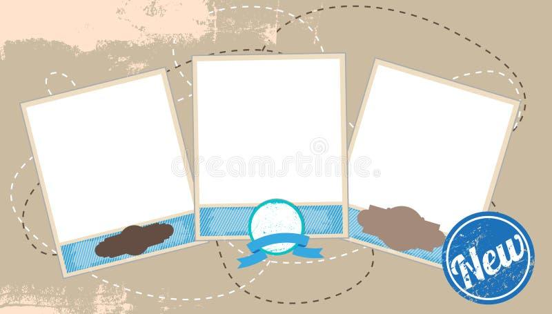 Ilustración del vector de la composición de las fotos de la vendimia ilustración del vector