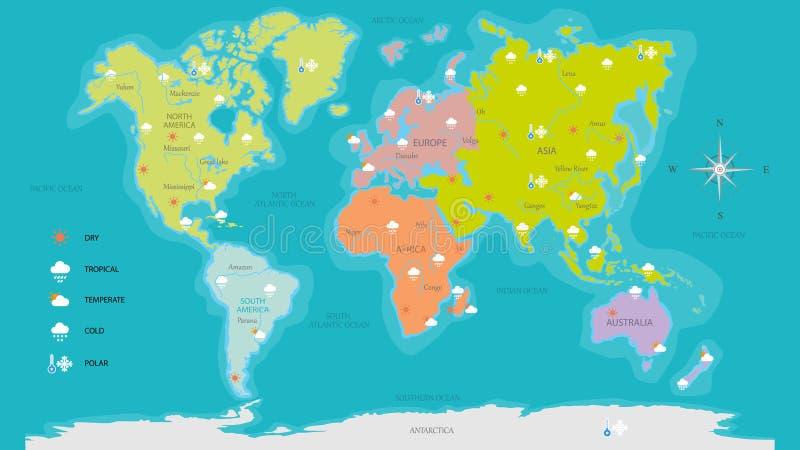 Ilustración del vector de la correspondencia de mundo stock de ilustración