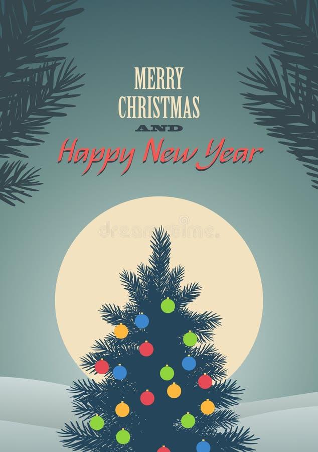 Ilustración del vector de la Feliz Navidad libre illustration