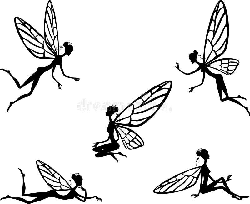 Ilustración del vector de la pequeña hada stock de ilustración