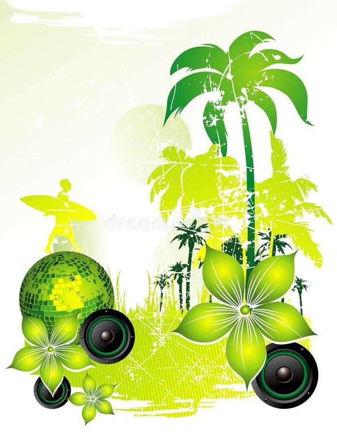 Ilustración del vector de la playa stock de ilustración