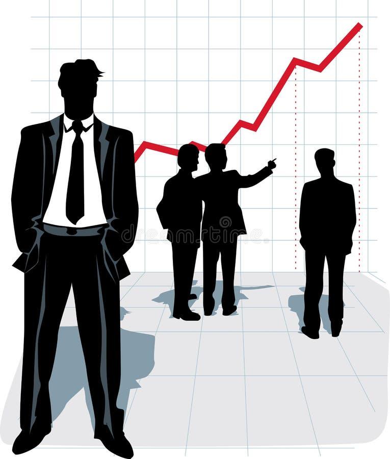 Ilustración del vector de la silueta del hombre de negocios. ilustración del vector