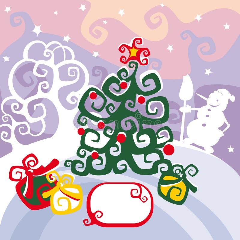Ilustración del vector de la tarjeta de Navidad ilustración del vector