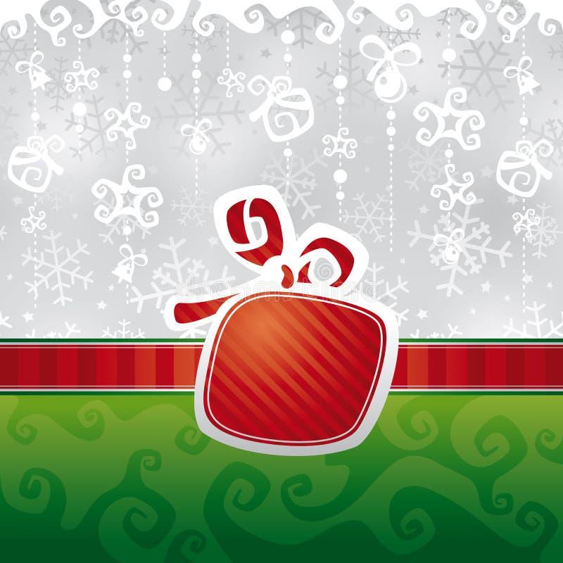 Ilustración del vector de la tarjeta de Navidad stock de ilustración