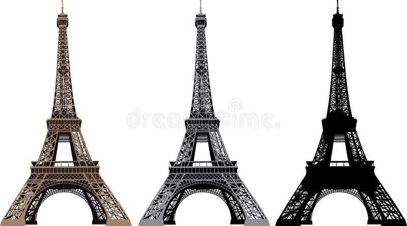 Ilustración del vector de la torre Eiffel stock de ilustración