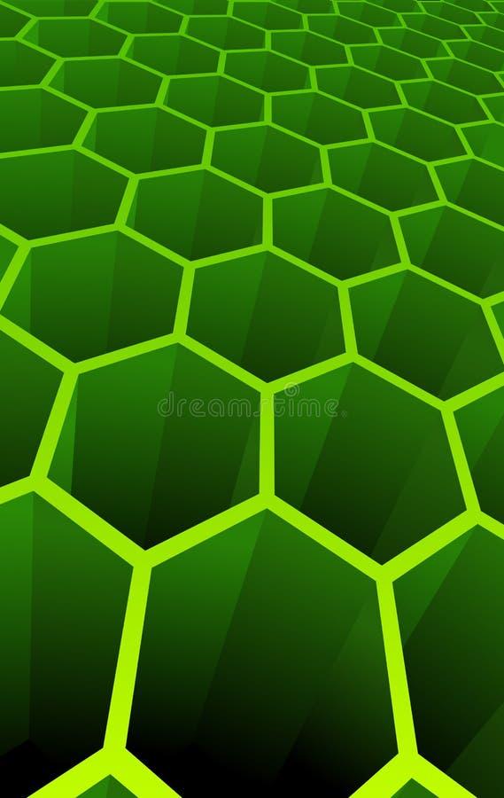 Ilustración del vector de las células abstractas 3d ilustración del vector