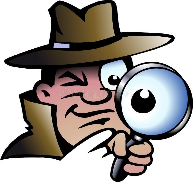 Ilustración del vector de un detective del inspector libre illustration