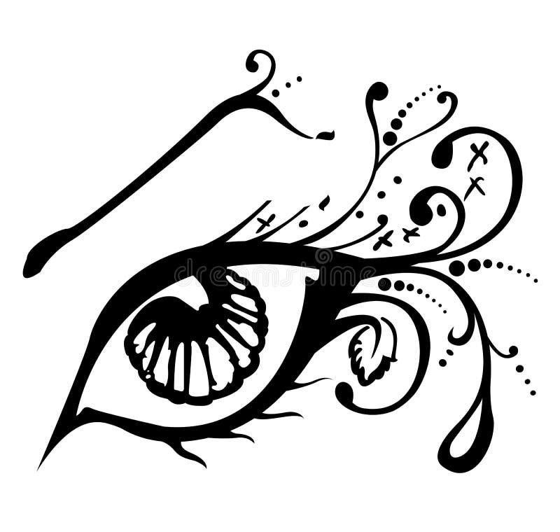 Ilustración del vector de un ojo abstracto ilustración del vector