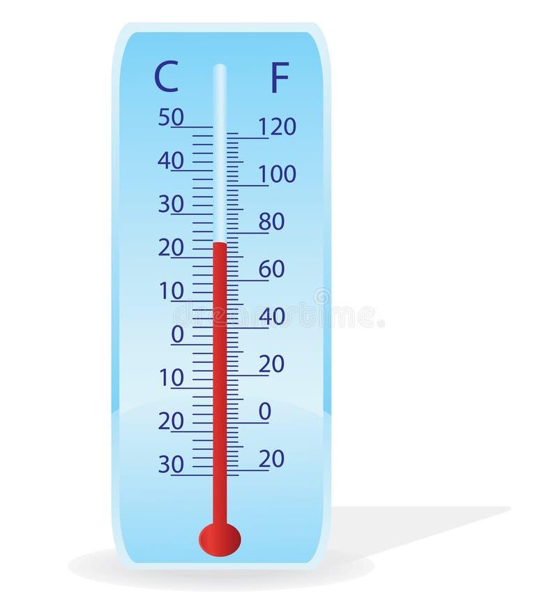 Ilustración del vector de un termómetro ilustración del vector