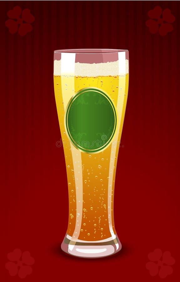 Ilustración del vector de un vidrio de cerveza stock de ilustración