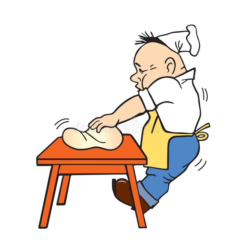 Ilustración del vector del cocinero imagenes de archivo