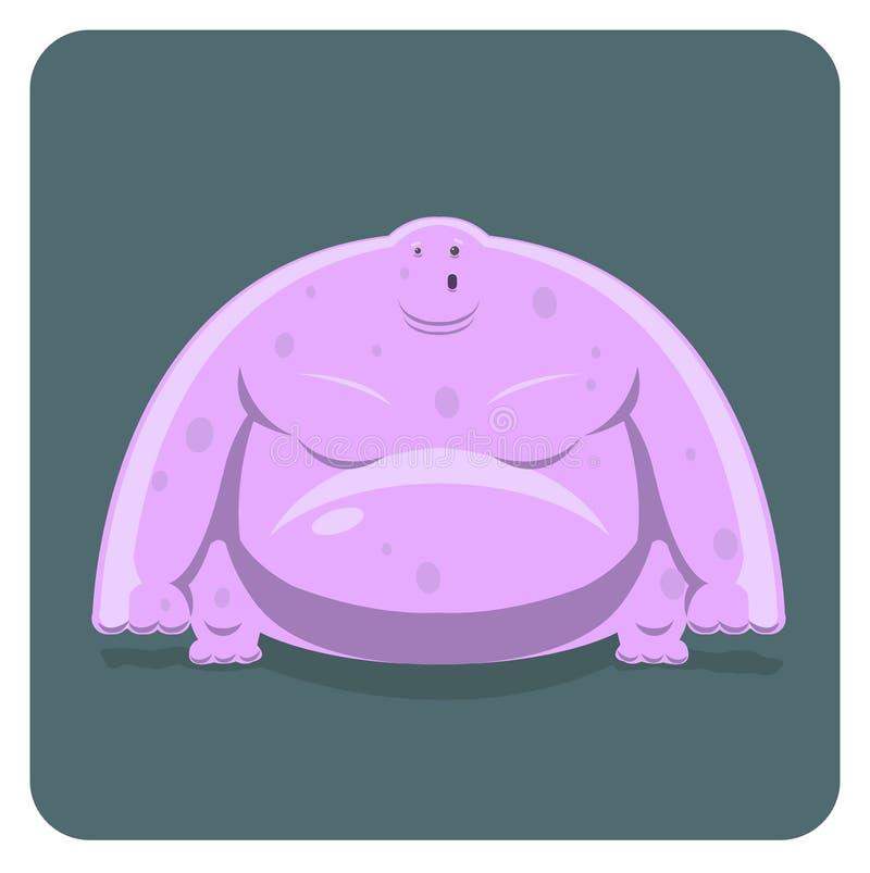 Ilustración del vector del monstruo rosado divertido stock de ilustración