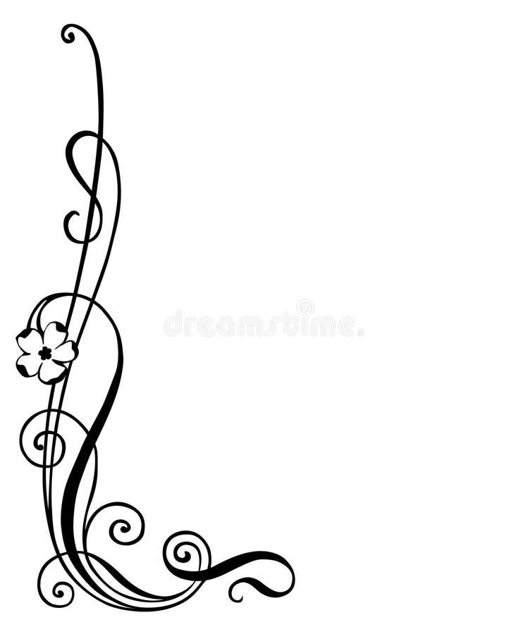 Ilustración del vector del ornamento floral ilustración del vector