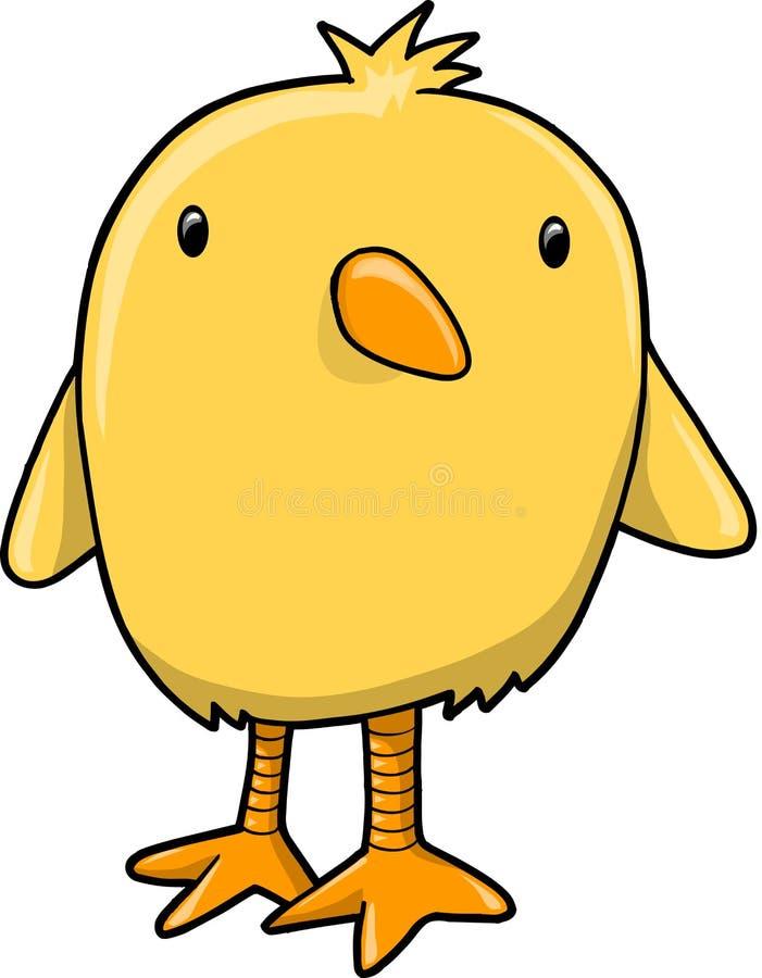 Ilustración del vector del pájaro del polluelo stock de ilustración