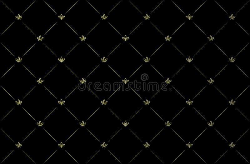 Ilustración del vector del papel pintado negro de la vendimia ilustración del vector