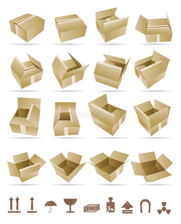 Ilustración del vector del rectángulo de envío libre illustration