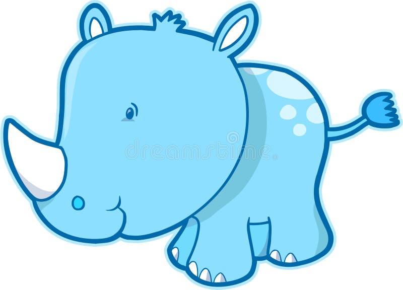 Ilustración del vector del rinoceronte stock de ilustración