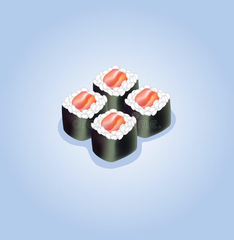 Ilustración del vector del sushi imágenes de archivo libres de regalías