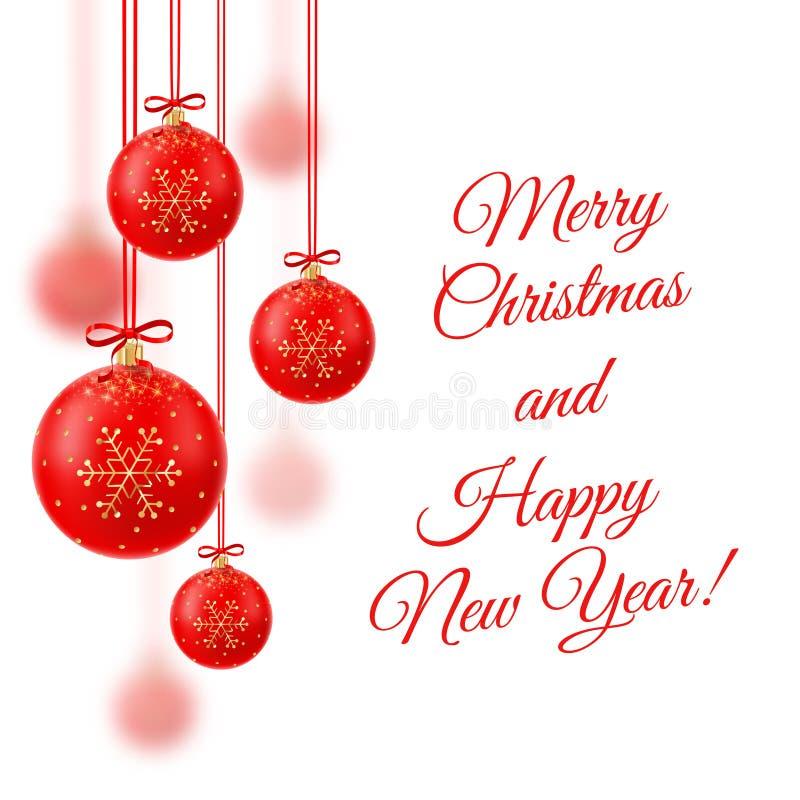 Ilustración del vector Feliz Navidad La Navidad cristalina realista imágenes de archivo libres de regalías