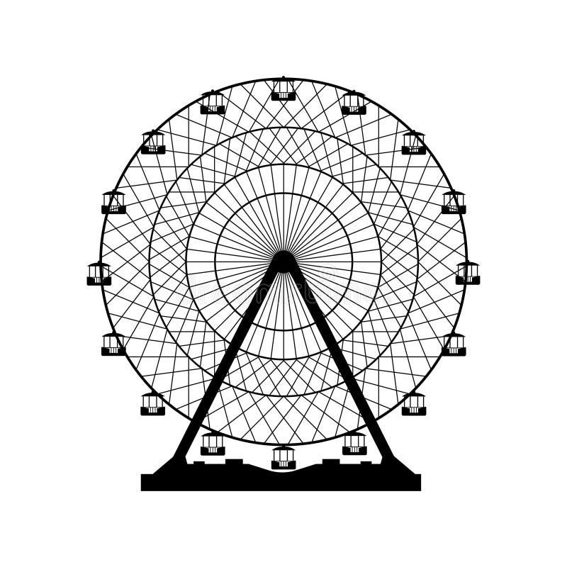 Ilustración del vector Ferris Wheel Fondo del funfair del carnaval ilustración del vector