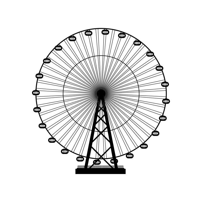 Ilustración del vector Ferris Wheel Fondo del funfair del carnaval libre illustration