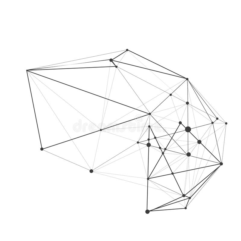 Ilustración del vector Fondo de la geometría del polígono Forma geométrica poligonal abstracta Explosión elemento dimensional de  libre illustration