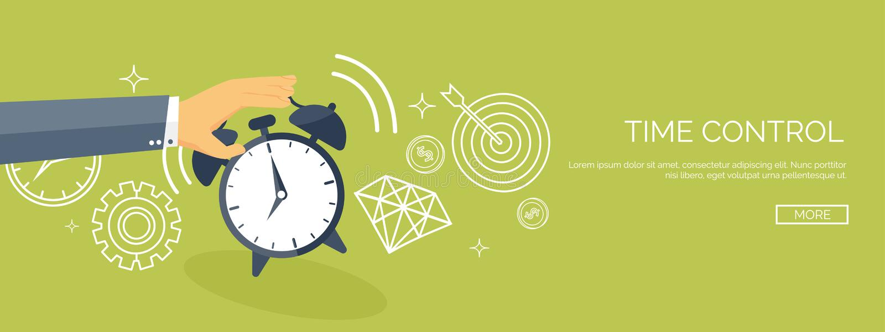 Ilustración del vector Fondo plano de la fecha y hora Gestión del planeamiento y de tiempo alarmar stock de ilustración