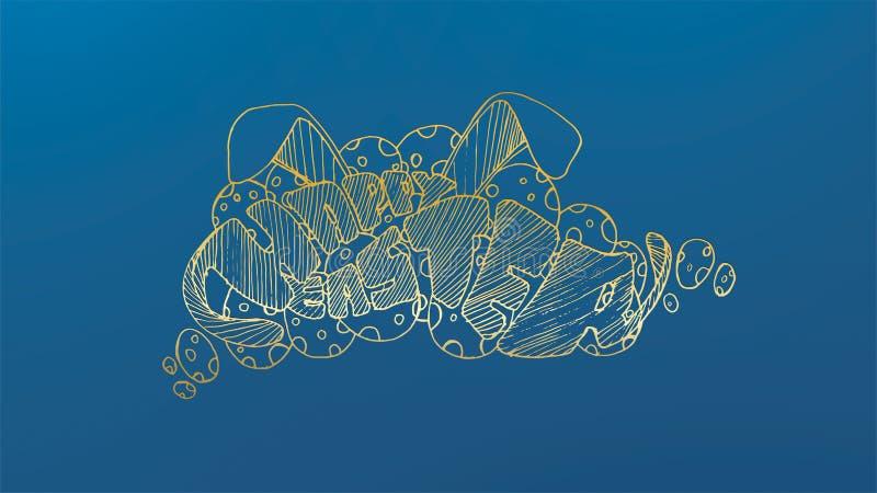 Ilustración del vector Letras coloridas modernas elegantes exhaustas de la mano feliz de Pascua aisladas en fondo - El fichero de libre illustration