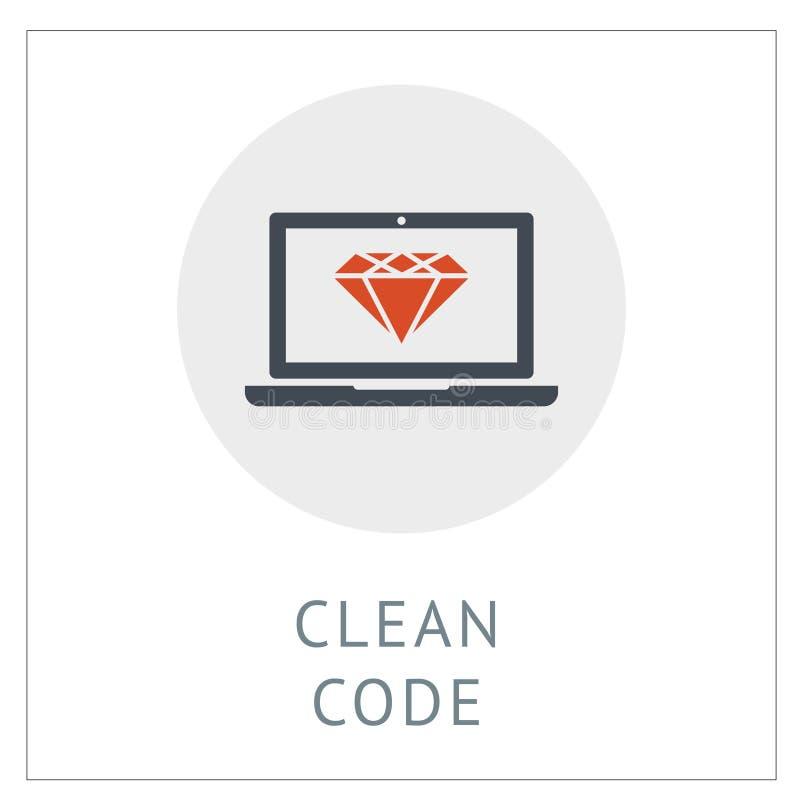Ilustración del vector del logotipo del logotipo del logotipo del código limpio libre illustration
