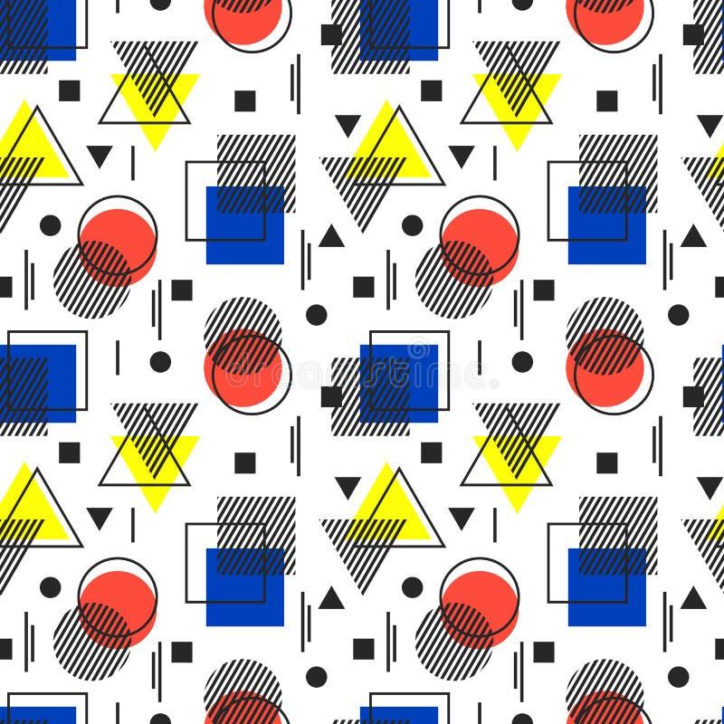 Ilustración del vector Modelo geométrico abstracto inconsútil Bauhau ilustración del vector