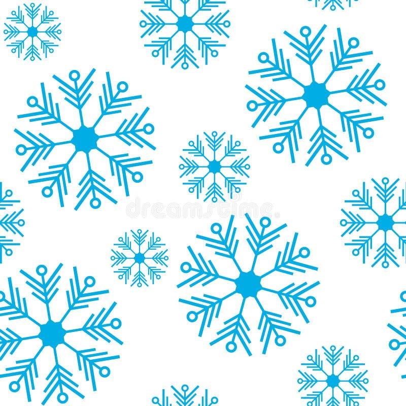 Ilustración del vector Modelo inconsútil Copos de nieve del azul del ornamento del invierno Para el papel de empaquetado libre illustration
