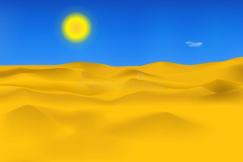 Ilustración del vector Paisaje abandonado El cielo y el sol ilustración del vector