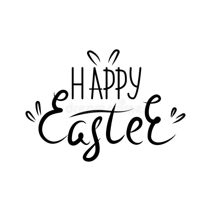 Ilustración del vector Poner letras a Pascua feliz Letras modernas elegantes exhaustas del cepillo de la mano de Pascua feliz ais libre illustration