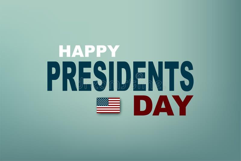 Ilustración del vector Presidentes Day en los E.E.U.U. Presidente Day del cartel EPS10 stock de ilustración