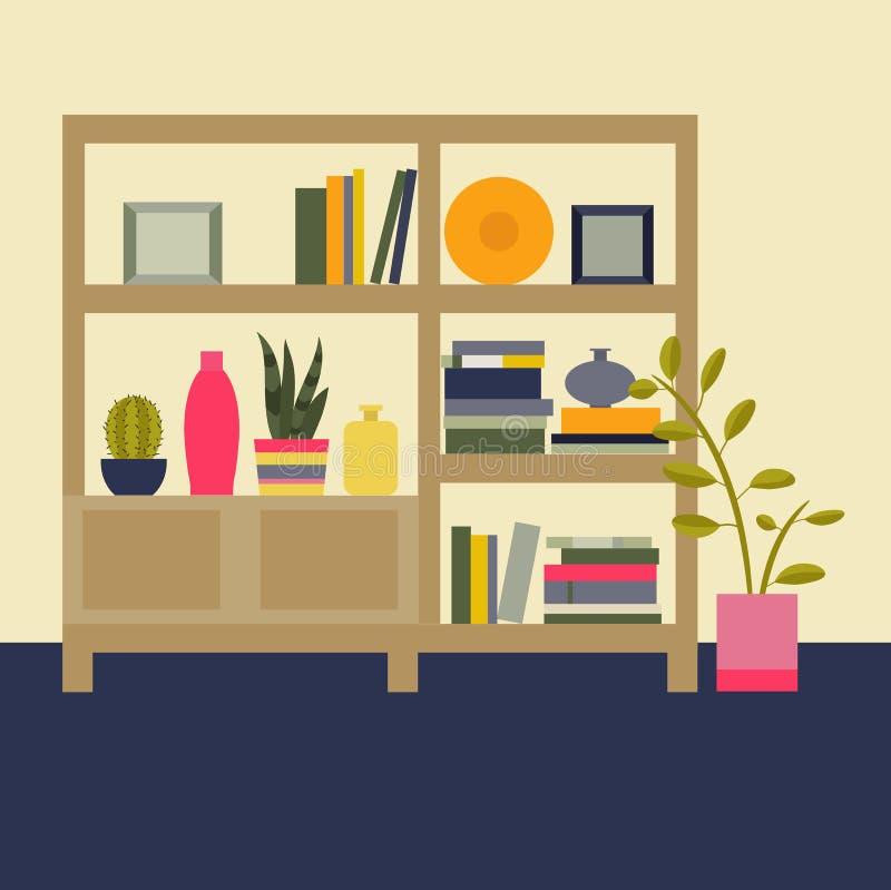 Ilustración del vector Sala de estar interior libre illustration