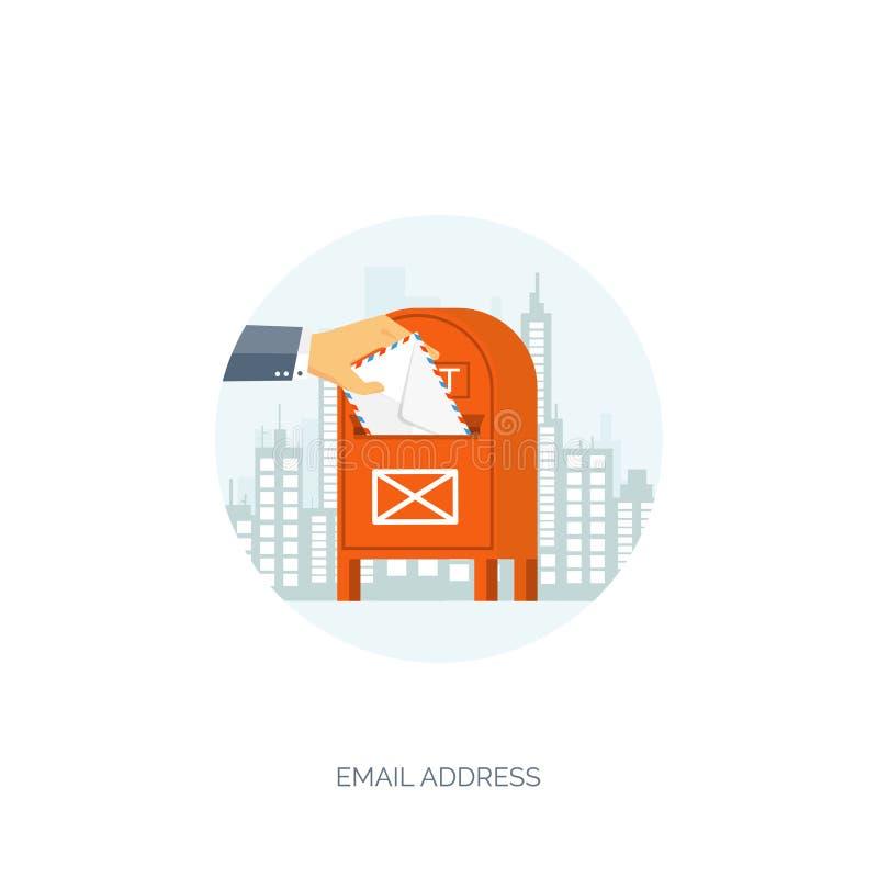 Ilustración del vector Saludos a través del mundo Red social, charlando Envío por correo electrónico, SMS Llamadas del web Intern ilustración del vector