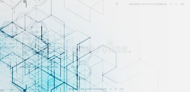 Ilustración del vector Tecnología de Digitaces y backgrou de la ingeniería stock de ilustración