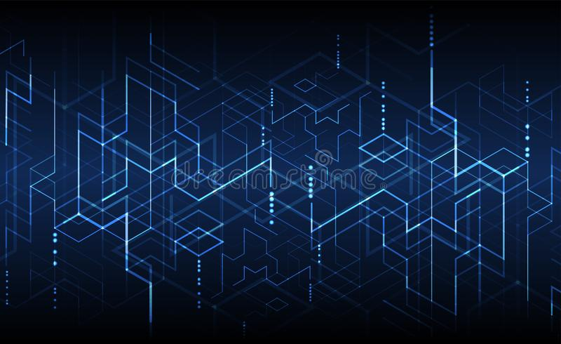 Ilustración del vector Tecnología de Digitaces y backgrou de la ingeniería libre illustration