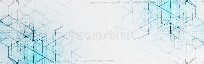 Ilustración del vector Tecnología de Digitaces y backgrou de la ingeniería ilustración del vector