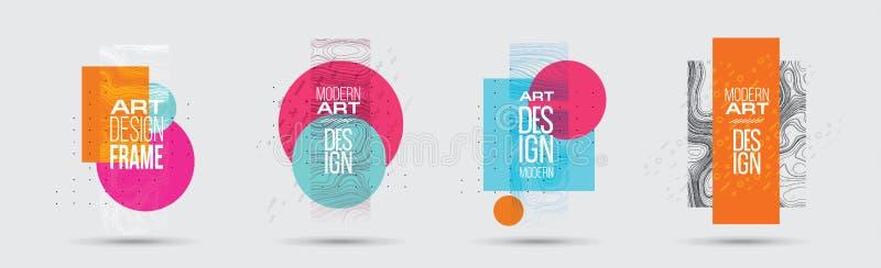 Ilustración del vector Un inconformista minimalistic coloreó diseño del marco ilustración del vector