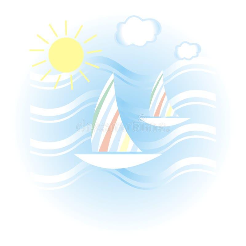 Ilustración del verano ilustración del vector