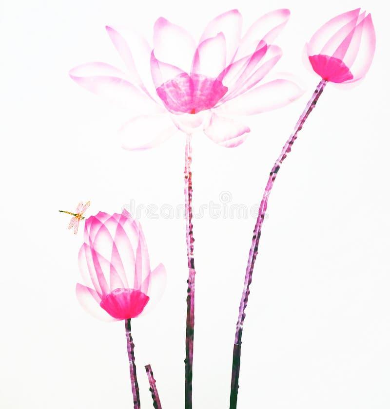 Ilustración del zen de la flor de loto stock de ilustración