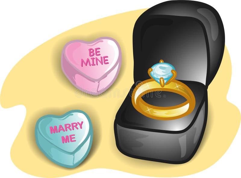 Ilustración determinada de la tarjeta del día de San Valentín stock de ilustración