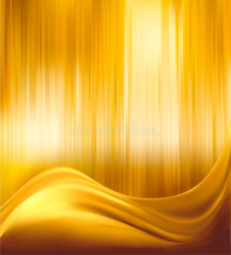 Ilustración elegante del fondo del extracto del oro stock de ilustración