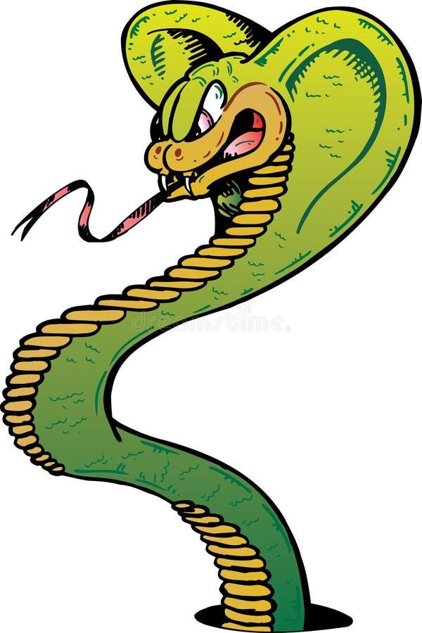 Ilustración enojada del vector de la serpiente de la cobra stock de ilustración