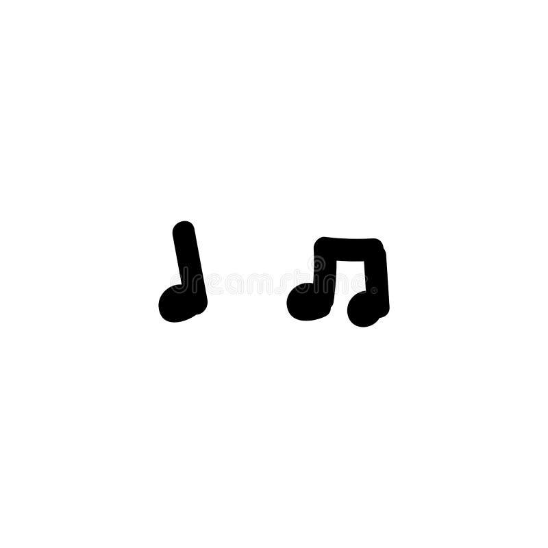 Ilustración EPS 10 Vector de notas de música dibujado a mano Concepto de composición musical para el acorde de de canción Simple  libre illustration