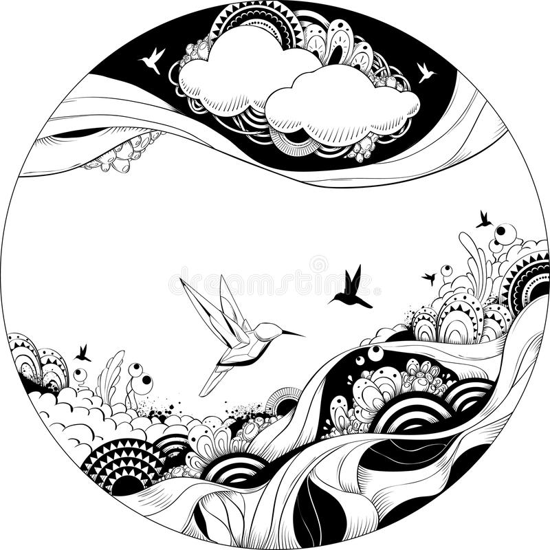 Ilustración extraña del vector stock de ilustración
