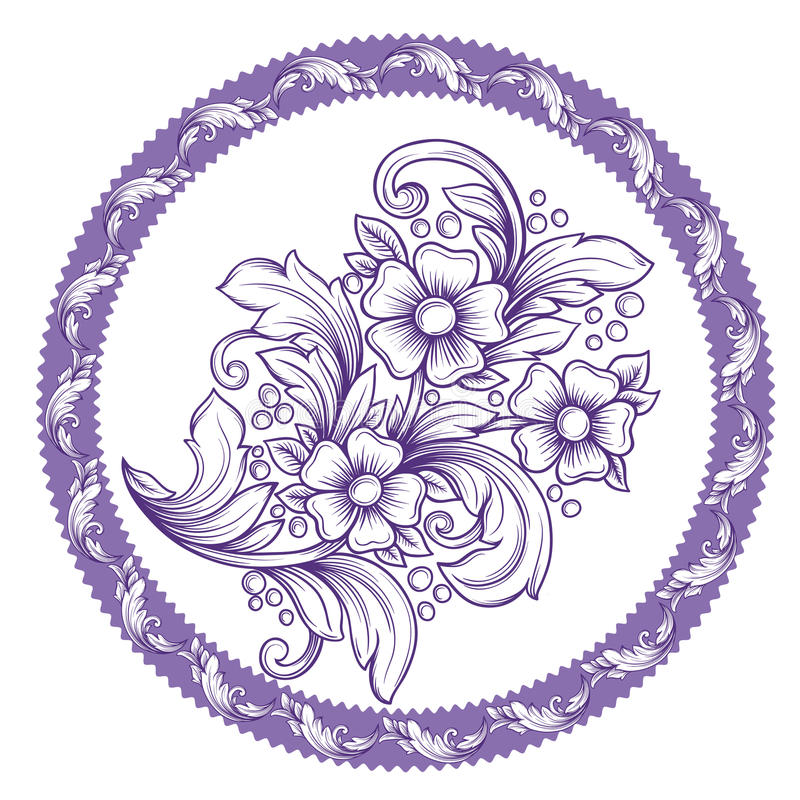 Ilustración floral de la vendimia frame libre illustration