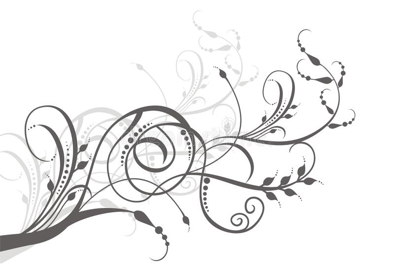 Ilustración floral de la vid ilustración del vector